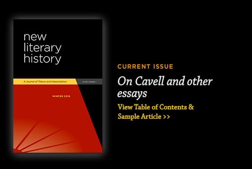 New Literary History Current Cover
